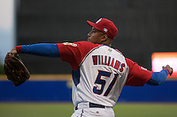 9 March 2009: #51 Bernie Williams throws the ball during the 2009 World Baseball Classic Pool D game 4 at Hiram Bithorn Stadium in San Juan, Puerto Rico. Puerto Rico wins 3-1 over Netherlands