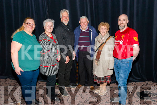 Farmer Michael and Kathleen Live Show in the Acustic Bar in the INEC Killarney last Friday night. Pictured are l-r Audrie Harris from Milltown, Pamela Hoffman and Bob Miller both from Kilcrohane, Michael O'Sullivan and Kathleen O'Sullivan both from Killarney and John Mangan from Milltown.