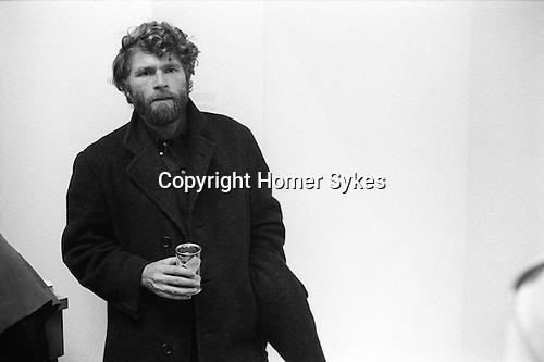 The artist RB Kitaj at the opening of Hockneys show at the Kasmin gallery Bond Street 1969