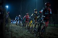 Marthe Truyen (BEL/Telenet Fidea Lions) in the sandbox<br /> <br /> women's race<br /> 44th Superprestige Diegem (BEL) 2018<br /> ©kramon