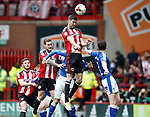 Chris Basham of Sheffield Utd in action during the English League One match at  Bramall Lane Stadium, Sheffield. Picture date: April 30th 2017. Pic credit should read: Simon Bellis/Sportimage