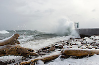Another favorite spot of mine to watch an angry Lake Superior put on a show. The thundering sound of the water making impact with the break wall is incredible and reminds me of a fireworks display -- you're always anticipating if the next wave is going to be louder or reach farther into the sky. Marquette, MI