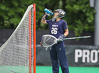 College Park, MD - May 19, 2018: Navy Ingrid Boyum (26) take a drink during the quarterfinal game between Navy and Maryland at  Field Hockey and Lacrosse Complex in College Park, MD.  (Photo by Elliott Brown/Media Images International)