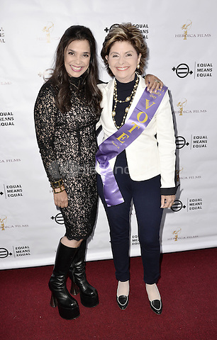 "BEVERLY HILLS, CA - AUGUST 26: Kamala Lopez and Gloria Allred attend the ""Equal Means Equal"" Special Screening at the Music Hall on August 20, 2016 in Beverly Hills, CA. Koi Sojer, Snap'N U Photos / MediaPunch"