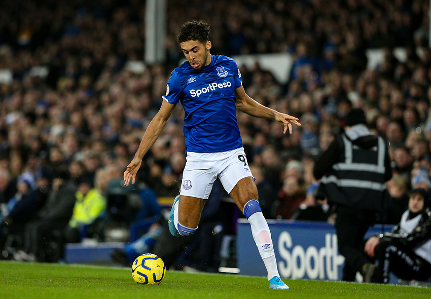 Everton's Dominic Calvert-Lewin<br /> <br /> Photographer Alex Dodd/CameraSport<br /> <br /> The Premier League - Everton v Newcastle United  - Tuesday 21st January 2020 - Goodison Park - Liverpool<br /> <br /> World Copyright © 2020 CameraSport. All rights reserved. 43 Linden Ave. Countesthorpe. Leicester. England. LE8 5PG - Tel: +44 (0) 116 277 4147 - admin@camerasport.com - www.camerasport.com