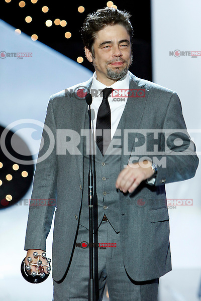 Puerto Rician actor Benicio del Toro receives the Donostia Award during the 62st San Sebastian Film Festival in San Sebastian, Spain. September 26, 2014. (ALTERPHOTOS/Caro Marin)