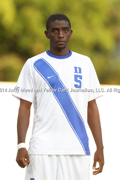 09 September 2014: Duke's Cameron Moseley. The Duke University Blue Devils hosted the Temple University Owls at Koskinen Stadium in Durham, North Carolina in a 2014 NCAA Division I Men's Soccer match. Duke won the game 3-1.