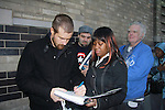 Josh Kelly signs for fans on the last day of shooting of The Soap Opera One Life To Live at the One Life To Live Studio on November 18, 2011, New York City, New York. (Photo by Sue Coflin/Max Photos)