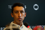 Egan Bernal (COL) Team Ineos at the team press conference before the 2019 Tour de France starting in Brussels, Belgium. 5th July 2019<br /> Picture: Pete Goding | Cyclefile<br /> All photos usage must carry mandatory copyright credit (© Cyclefile | Pete Goding)