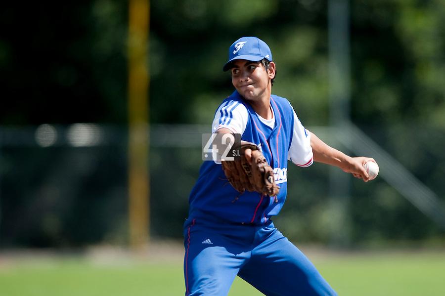Baseball - 2009 European Championship Juniors (under 18 years old) - Bonn (Germany) - 04/08/2009 - Day 2 - Christopher Morel (France)