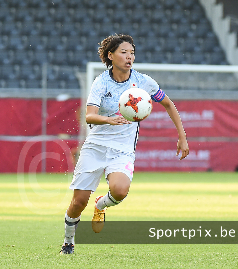 20170613 - LEUVEN ,  BELGIUM : Japanese Saki Kumagai pictured during the female soccer game between the Belgian Red Flames and Japan , a friendly game before the European Championship in The Netherlands 2017  , Tuesday 13 th Juin 2017 at Stadion Den Dreef  in Leuven , Belgium. PHOTO SPORTPIX.BE | DIRK VUYLSTEKE