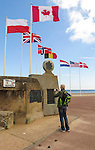 VMI Vincentian Heritage Tour: Normandy France side trip - Memorials near the Juno Beach landing zone in Normandy, France.(DePaul University/Jamie Moncrief)