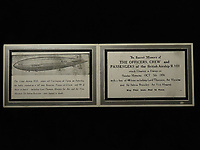 BNPS.co.uk (01202 558833)<br /> Pic: Lockdales/BNPS<br /> <br /> A memorial card marking the loss of 48 lives following the crash of R101 at Beauvais, France, on October 5th 1930. <br /> <br /> The tragic tale of a pioneering pilot who made the first east-west transatlantic crossing in an airship can be told after his campaign medal emerged for sale 101 years later.<br /> <br /> Major George Scott CBE, who served in the Royal Naval Air Service and RAF in World War One, made headlines in 1919 when he commanded the airship R34 for its historic voyage.<br /> <br /> The arduous flight from East Fortune in Scotland to Mineola airfield in New York took 108 hours and 12 minutes, during which they 'dodged storms and ran low on fuel and hydrogen'. He was praised for his 'cool, alert and expert handling' of the 643ft long airship, and granted an audience with the American President Woodrow Wilson. <br /> <br /> However, his life ended in tragedy 11 years later when the R101 airship crashed on its maiden overseas voyage in northern France en route to India. Forty-eight people were killed in the disaster on October 5, 1930.<br /> <br /> Now, his Victory Medal, which was discovered by the vendor in a 'junk box' of old medals, is going under the hammer with Lockdales Auctioneers, of Ipswich, Suffolk.