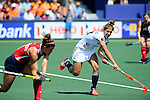 The Hague, Netherlands, June 08: During the first half during the field hockey group match (Women - Group B) between USA and Germany on June 8, 2014 during the World Cup 2014 at GreenFields Stadium in The Hague, Netherlands. Final score 4-1 (1-0) (Photo by Dirk Markgraf / www.265-images.com) *** Local caption *** Marie Maevers #23 of Germany