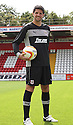 Chris Day of Stevenage. Stevenage FC photoshoot -  Lamex Stadium, Stevenage . - 16th August, 2012. © Kevin Coleman 2012