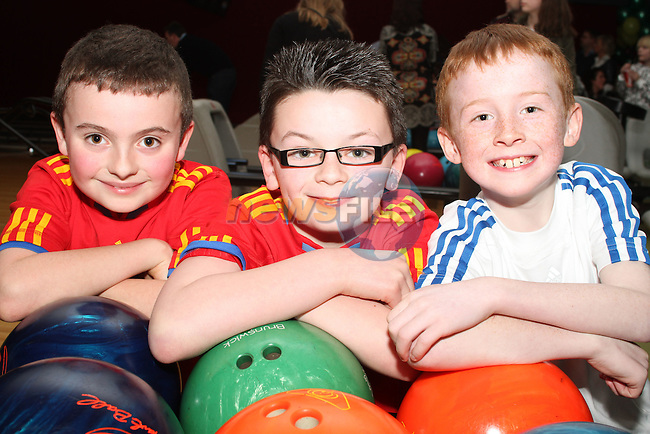Conor Austin, Conor O'Brien and James Martin at the Meath Taekwon-Do Bowling Fundraiser in Drogheda Leisure Centre...(Photo credit should read Jenny Matthews/www.newsfile.ie)....This Picture has been sent you under the conditions enclosed by:.Newsfile Ltd..The Studio,.Millmount Abbey,.Drogheda,.Co Meath..Ireland..Tel: +353(0)41-9871240.Fax: +353(0)41-9871260.GSM: +353(0)86-2500958.email: pictures@newsfile.ie.www.newsfile.ie.