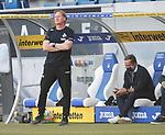 Trainer Markus Gisdol (1.FC Köln) und Sportchef Horst Heldt (1.FC Köln)<br /> <br /> Foto: POOLFOTO/Avanti/Ralf Poller/PIX-Sportfotos.<br /> TSG 1899 Hoffenheim-1. FC Koeln.<br /> Sinsheim,  GER, 27.05.2020 , 28. Spieltag , Fussball 1. Bundesliga 2019/2020.<br /> <br /> Sport: Fussball: LIGA: Saison 19/20: TSG 1899 Hoffenheim- 1.FC Koeln, 27.05.2020.<br /> Foto: RALF POLLER/AVANTI/POOL<br /> <br /> Nur für journalistische Zwecke! Only for editorial use! <br /> Gemäß den Vorgaben der DFL Deutsche Fußball Liga ist es untersagt, in dem Stadion und/oder vom Spiel angefertigte Fotoaufnahmen in Form von Sequenzbildern und/oder videoähnlichen Fotostrecken zu verwerten bzw. verwerten zu lassen. DFL regulations prohibit any use of photographs as image sequences and/or quasi-video.