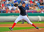 8 March 2009: Washington Nationals' pitcher John Lannan on the mound during a Spring Training game against the New York Mets at Space Coast Stadium in Viera, Florida. The Nationals defeated the Mets 8-3 in the Grapefruit League matchup. Mandatory Photo Credit: Ed Wolfstein Photo