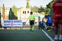 Palermo (Sicily - Italy), 17/07/2017. Three-sided football at the Magione in Palermo (Near &quot;Casa di Paolo&quot;): Agende Rosse (Red Notebooks - http://19luglio1992.com - Red jersey) - SIAP Sindacato Appartenenti Polizia (One of the Italian Police Trade Unions - http://www.siap-polizia.org/ - Blue jersey) - Casa di Paolo (No Profit Organization in Palermo with the aim to help and support kids of the area, and to educate and inform about mafia organizations, https://www.facebook.com/casadipaolokalsa/ - White jersey).<br /> <br /> For more info please click here: http://19luglio1992.com &amp; https://www.facebook.com/agenderosse/