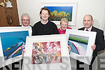 Kay and Kevin O'Connor, Castleisland who won Kerry's Eye Art Competition pictured with Artist John Hurley also in photo is Brendan Kennelly, Marketing Manager Kerry's Eye.