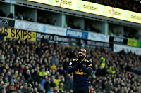 1st December 2019; Carrow Road, Norwich, Norfolk, England, English Premier League Football, Norwich versus Arsenal; Alexandre Lacazette of Arsenal reacts as a decision goes against him - Strictly Editorial Use Only. No use with unauthorized audio, video, data, fixture lists, club/league logos or 'live' services. Online in-match use limited to 120 images, no video emulation. No use in betting, games or single club/league/player publications