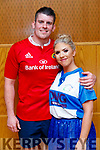 Simon Behan and Amy Kelly contestants  at the Tralee Rugby Club's 'Strictly Come Dancing' event in the Ballyroe Heights Hotel on Friday night.