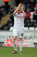 Pictured: Captain for Swansea Garry Monk on his first match after an injury. Saturday 19 March 2011<br /> Re: Swansea City FC v Nottingham Forest, npower Championship at the Liberty Stadium, Swansea, south Wales.