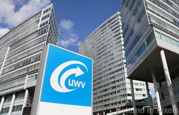 Nederland Amsterdam 2016 . Kantoren van het UWV bij station Amsterdam Sloterdijk. Foto Berlinda van Dam / Hollandse Hoogte