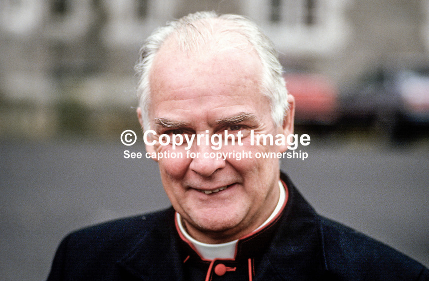 Most Rev Francis Brooks, Roman Catholic, Bishop of Dromore, N Ireland, 19870612FB..Copyright Image from Victor Patterson, 54 Dorchester Park, Belfast, UK, BT9 6RJ..Tel: +44 28 9066 1296.Mob: +44 7802 353836.Voicemail +44 20 8816 7153.Skype: victorpattersonbelfast.Email: victorpatterson@me.com.Email: victorpatterson@ireland.com (back-up)..IMPORTANT: If you wish to use this image or any other of my images please go to www.victorpatterson.com and click on the Terms & Conditions. Then contact me by email or phone with the reference number(s) of the image(s) concerned.