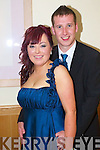 Grainne McGlynn and Chris James pictured at Causeway Comprehensive Debs Ball at the Ballyroe Heights hotel on Thursday.