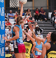 Central Pulse v Southern Steel. ANZ Premiership preseason tournament at Nga Purapura in Otaki, New Zealand on Sunday 10 February 2019. Photo: Mike Moran / lintottphoto.co.nz