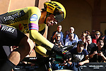 Giro d'Italia - Cycling Tour of Italy<br /> Primoz Roglic (Slo) at the Individual Time Trial on 11/05/2019 in Bologna, Italy. <br /> First climb of San Luca.