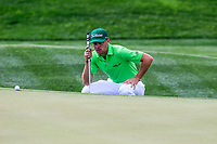 Justin Thomas (USA) on the 9th green during the 3rd round of the Waste Management Phoenix Open, TPC Scottsdale, Scottsdale, Arisona, USA. 02/02/2019.<br /> Picture Fran Caffrey / Golffile.ie<br /> <br /> All photo usage must carry mandatory copyright credit (© Golffile | Fran Caffrey)