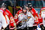 Stockholm 2014-01-08 Ishockey SHL AIK - Lule&aring; HF :  <br />  Lule&aring;s Linus Klasen jublar med Lule&aring;s Per Ledin efter 4-0<br /> (Foto: Kenta J&ouml;nsson) Nyckelord:  jubel gl&auml;dje lycka glad happy