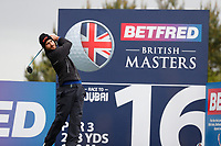 Alejandro Canizares plays his tee shot at the 16th during the first day at the Betfred British Masters, Hillside Golf Club, Lancashire, England. 09/05/2019.<br /> Picture David Kissman / Golffile.ie<br /> <br /> All photo usage must carry mandatory copyright credit (© Golffile | David Kissman)