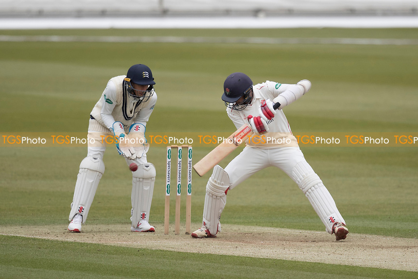 Haseeb Hameed of Lancashire CCC just backward of point for a boundary during Middlesex CCC vs Lancashire CCC, Specsavers County Championship Division 2 Cricket at Lord's Cricket Ground on 12th April 2019