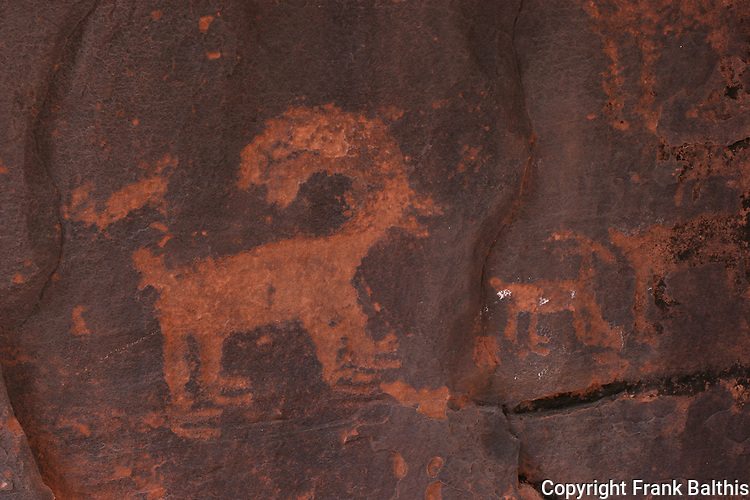 Bighorn sheep petroglyph in Petroglyph Canyon