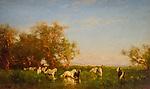 Wild horses in Camargue - Felix Ziem (1821-1911)