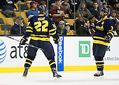 Brendan Ellis (Merrimack - 22), Karl Stollery (Merrimack - 7) - The Merrimack College Warriors defeated the University of New Hampshire Wildcats 4-1 (EN) in their Hockey East Semi-Final on Friday, March 18, 2011, at TD Garden in Boston, Massachusetts.