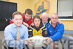 Members of Abbeyfeale Rugby Club Declan Woulfe, TJ O'Riordan, Michael O'Dowd, Barney McMahon and Bobby O'Connell.