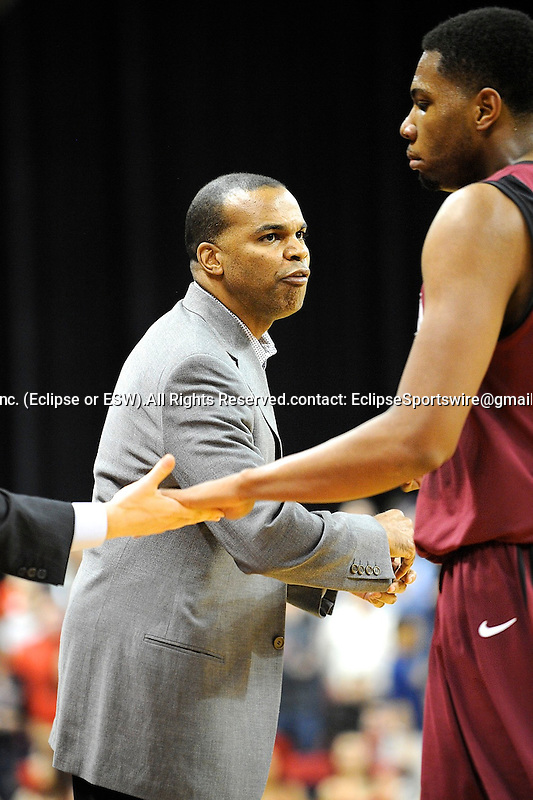 Harvard's head coach Tommy Amaker during the 24th ranked Crimson's 76-52 victory over Boston University on December 10, 2011 at Agganis Arena in Boston, Massachusets.  (Bob Mayberger/Eclipse Sportswire)