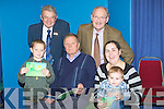 BOOK: Joseph Enright Tralee who launched his new children book Accorn in the Kerry County Library on Saturday in were sales from the book will go to Kerry Hospice Foundation. l-r: Jordan Kissane, Ted Moynihan, Joseph Enright, Frank O'Connor, Richard and Julieann O'Mahony.