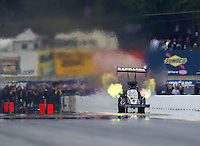 Oct 2, 2016; Mohnton, PA, USA; NHRA top fuel driver Larry Dixon during the Dodge Nationals at Maple Grove Raceway. Mandatory Credit: Mark J. Rebilas-USA TODAY Sports