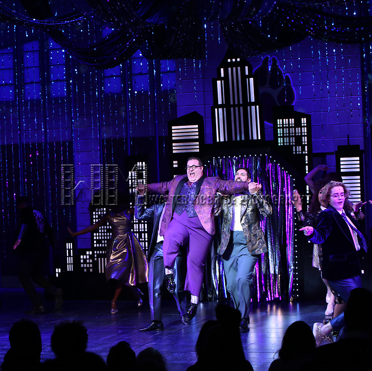 "Josh Lamon and cast during the Broadway Opening Night Curtain Call of ""The Prom"" at The Longacre Theatre on November 15, 2018 in New York City."