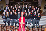 Gaelscoil Aogain, Castleisland pupils with Bishop Ray Browne with their Principal Tomas O'Connor at their Confirmation in St Stephen and John church Castleisland on Thursday