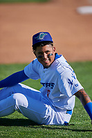 Kenneth Betancourt (9) of the Ogden Raptors before the game against the Grand Junction Rockies at Lindquist Field on June 15, 2019 in Ogden, Utah. The Raptors defeated the Rockies 12-11. (Stephen Smith/Four Seam Images)