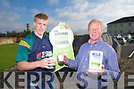 Kerry Football Star Tommy Walsh  at the launch of of new NDC packaging mark which appears on all of Lee Strand milk and cream brands and with the new 2.5 litre milk, which gives the customer 25% more milk free. Tommy Walsh is photographed with Brendan Walsh, Chairman of Lee Strand Coop.