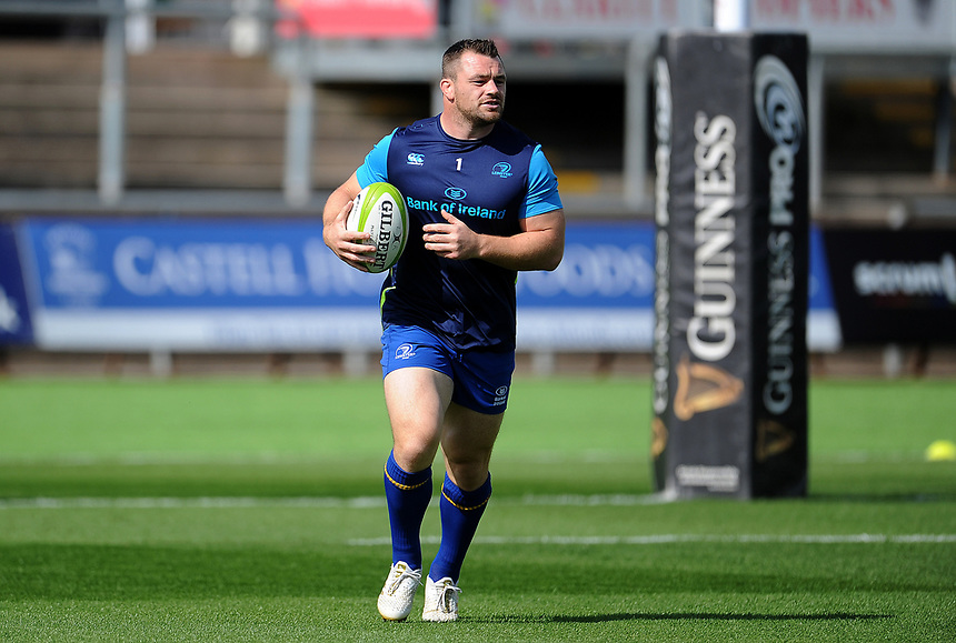 Leinster's Cian Healy during the pre match warm up<br /> <br /> Photographer Ashley Crowden/CameraSport<br /> <br /> Guinness Pro14 Round 1 - Dragons v Leinster Rugby - Saturday 2nd September 2017 - Rodney Parade - Newport, Wales<br /> <br /> World Copyright &copy; 2017 CameraSport. All rights reserved. 43 Linden Ave. Countesthorpe. Leicester. England. LE8 5PG - Tel: +44 (0) 116 277 4147 - admin@camerasport.com - www.camerasport.com