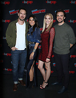 NEW YORK, NY - October 6: Mark-Paul Gosselaar, Emmanuelle Chriqui, Brianne Howey, Liz Heldens, Mark-Paul Gosselaar, at New York Comic Con 2018 promoting FOX TV's The Passage at the Jacob K. Javits Convention Center in New York City on October 06, 2018. <br /> CAP/MPI/RW<br /> &copy;RW/MPI/Capital Pictures