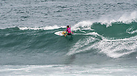 MARGARET RIVER, Western Australia/AUS (Saturday, April 14, 2018) Sally Fitzgibbons (AUS) - Stop No. 3 on the World Surf League (WSL) Championship Tour, the Margaret River Pro, continued today with the remaining heats of men&rsquo;s Round 1 and women&rsquo;s Round 1 in heavy four-to-six foot (1.2 - 1.8 metre) waves at North Point.<br /> <br /> North Point, the backup site known for its intense, barreling waves, hosted the world&rsquo;s best female CT surfers for the first time in history today. Despite the slower and more challenging conditions, the women dominated the day, including the highest single-wave scores of the event from Tatiana Weston-Webb (HAW) and Carissa Moore (HAW).  <br /> <br /> 2012 WSL Champion Joel Parkinson (AUS) beat Michel Bourez (PYF) and Patrick Gudauskas (USA) to close out the men&rsquo;s competition in Heat 12. Parkinson&rsquo;s heat total of a 10.34 was the highest of the men's morning as conditions slowed over the low tide, showing experience pays at the elite level.Photo: joliphotos.com